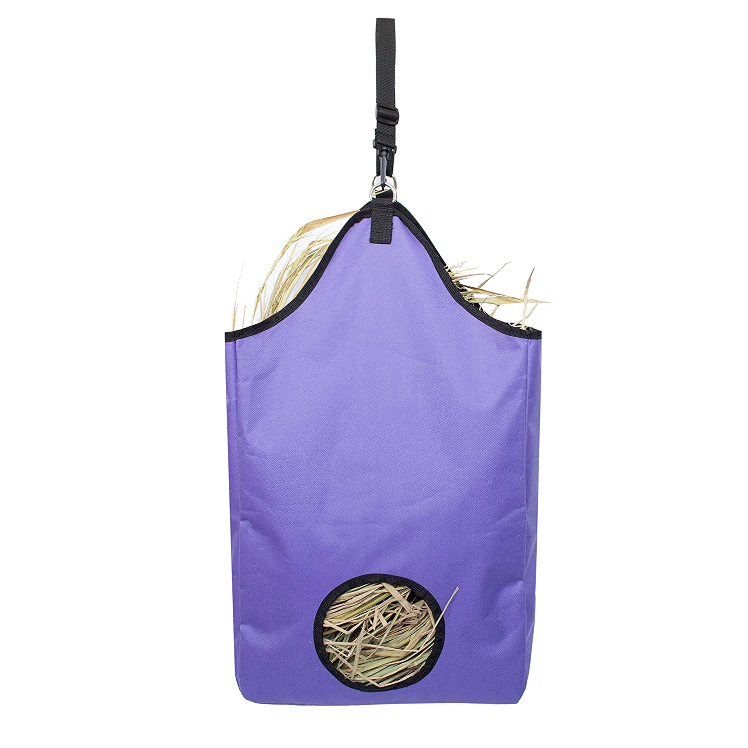 Huntvp Hay Tote Bag for Horses slow Feed, Goats (Purple) MIANTIAN