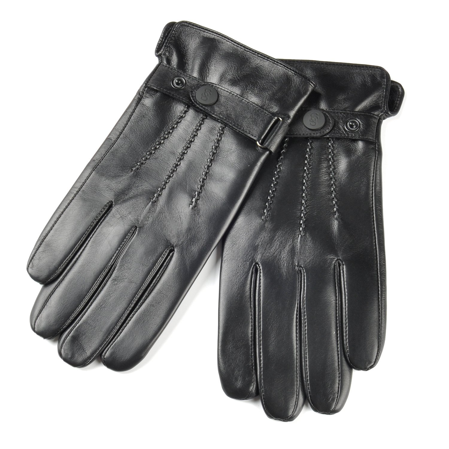 SIEFERSN Classic Style Men's Nappa Leather Gloves Full Touchscreen Warm Winter Driving Gloves 1164225004 (X-Large 9.5'', Black (Full Touchscreen/Soft flannel Lining))