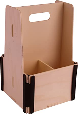 Pack de 3 Cajas de Cerveza para 4 botellas - Madera y plástico - Montaje manual tipo puzzle - Ideal para regalos: Amazon.es: Hogar
