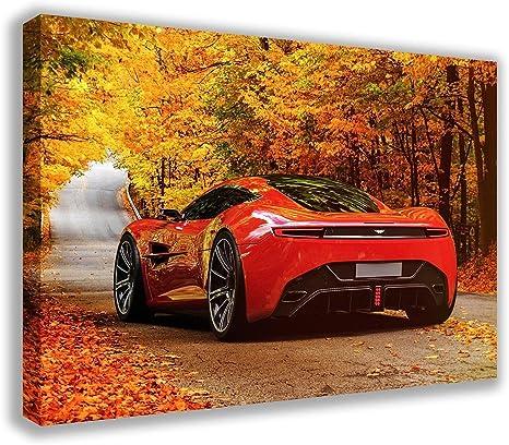 Dynamo Printing Ltd Aston Martin Dbc Concept Auto Autumn Leaves Auf Leinwand 76 2 X 45 7 Cm Amazon De Küche Haushalt