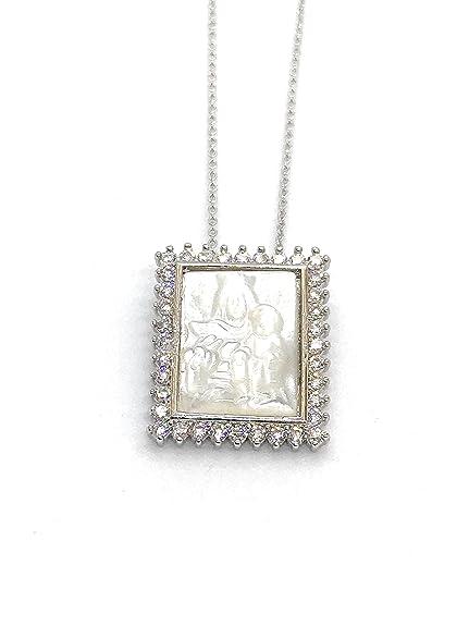 Amazon.com: Leslie petanca Virgen del Carmen medalla collar ...