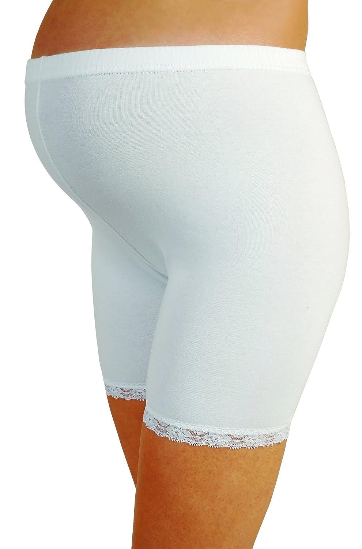 Umstandsunterw/äsche M.M.C Schwangerschaftsshort Schwangerschaftsunterhose Umstandsmode Umstandsslip mit Langen Beinen Umstandsshort Spitze Schwangerschaftsslip| Umstandsunterhose