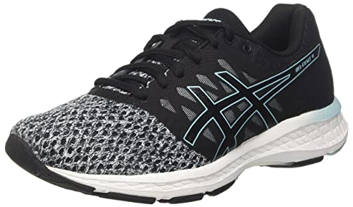 f10ccd3784ea7 ASICS Women s s Gel-Exalt 4 Competition Running Shoes Black Dark  Grey Porcelain Blue