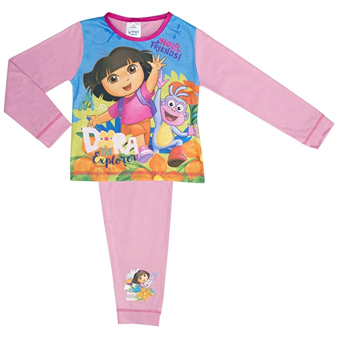 Cartoon Character Products - Pijamas enteros - Manga Larga - para bebé niña morado rosa 2