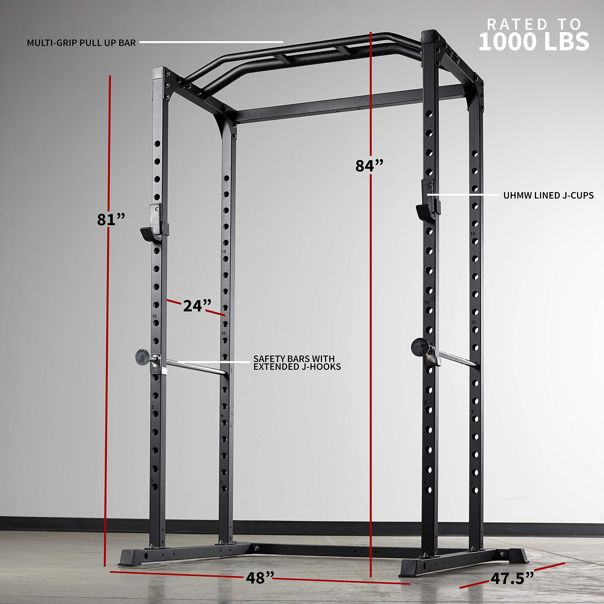 Rep PR-1100 Power Rack - 1,000 lbs Rated Lifting Cage for Weight Training by Rep Fitness (Image #2)