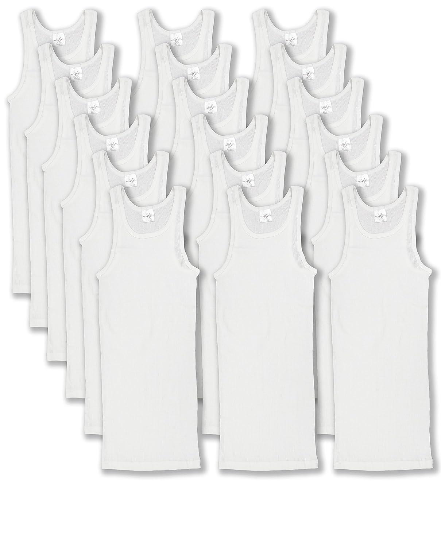 78393X6 Andrew Scott Basics Big Boys 18 Pack A-Shirt Tank Top Undershirt White