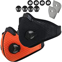 Infityle Dustproof Face Mask - Activated Carbon Dust Proof Pollution Respirator with Filter Filtration Cotton Sheet and Valves for Exhaust Gas, Anti Pollen Allergy, PM2.5, Running, Cycling
