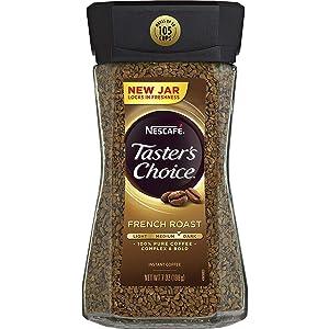 Nescafe Taster's Choice TASTER'S CHOICE French Roast Medium Dark Roast Instant Coffee 7 oz. Jar, Brown, 4 Pack