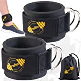 Ankle Straps for Cable Machines (Set of 2) Cable Attachments for Gym Ankle Straps Cable Straps Ankle Cuffs for Women and Men