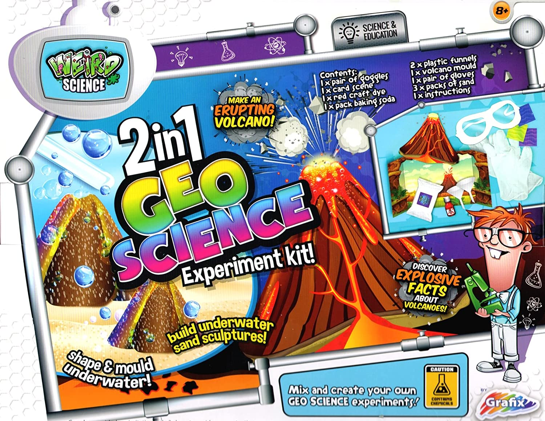 Grafix 2 en 1 GEO Science Experiment Kit-explosifs faits sur les volcans