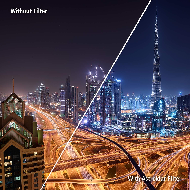 Rollei Astroklar Filtro rotondo I 67mm Filtro per luce notturna I Filtro Light Pollution di alta qualit/à per lastrofotografia