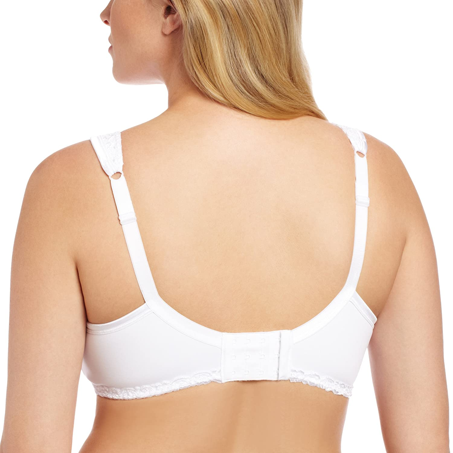 Playtex Womens Plus Size Comfort Lace Wire-Free Bra