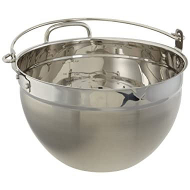 CucinaPro Stainless Steel Maslin Jam Pan - 9909, Dishwasher Safe, Pouring Spout, Black