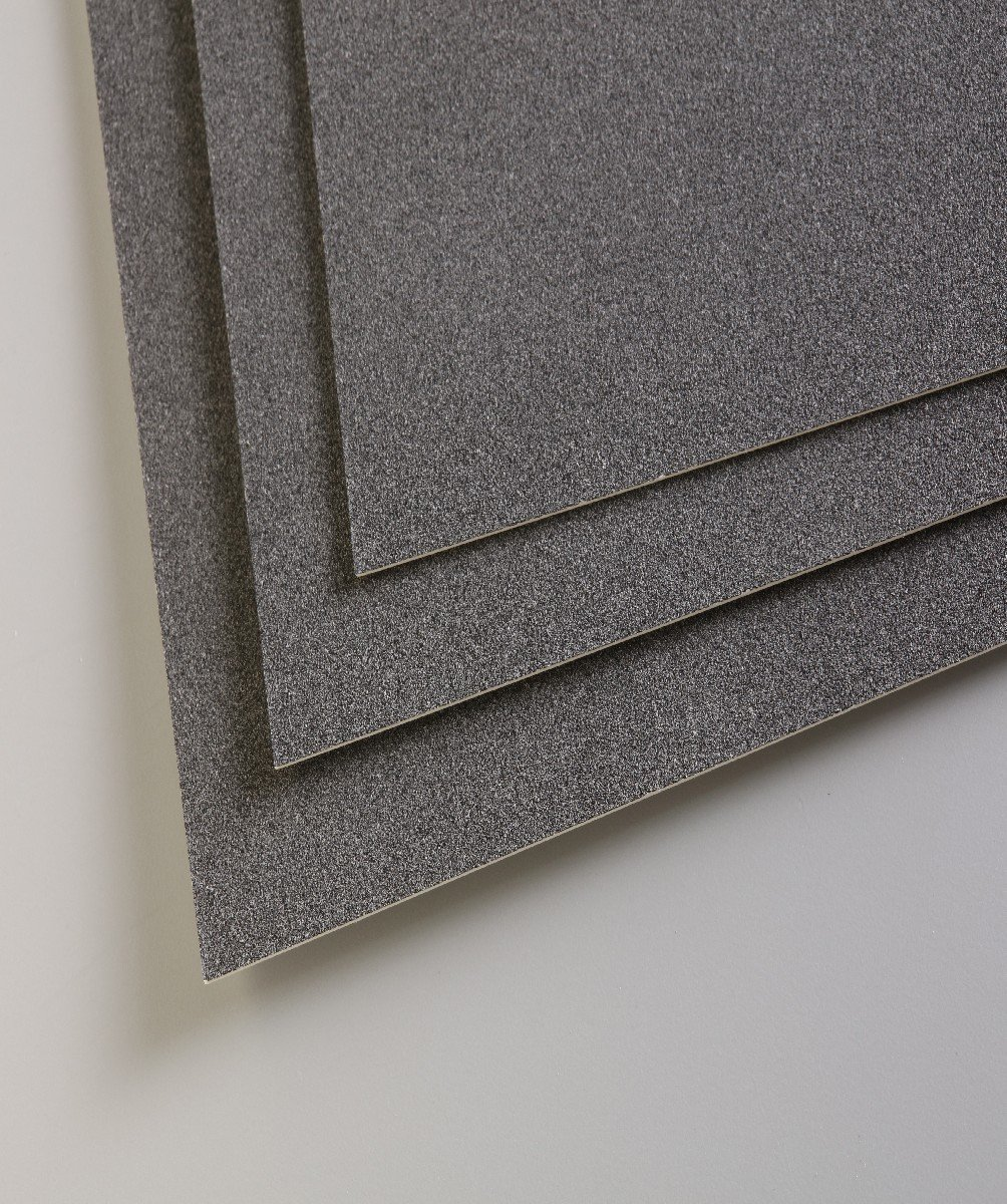 Pastelmat Card for Pastel - 19.5 x 27.5 Inch Sheet - Anthracite Single Sheet by Clairefontaine
