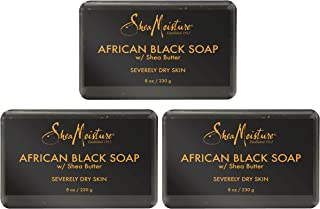 product image for Shea Moisture African Black Soap With Shea Butter 8 oz (Pack of 3)