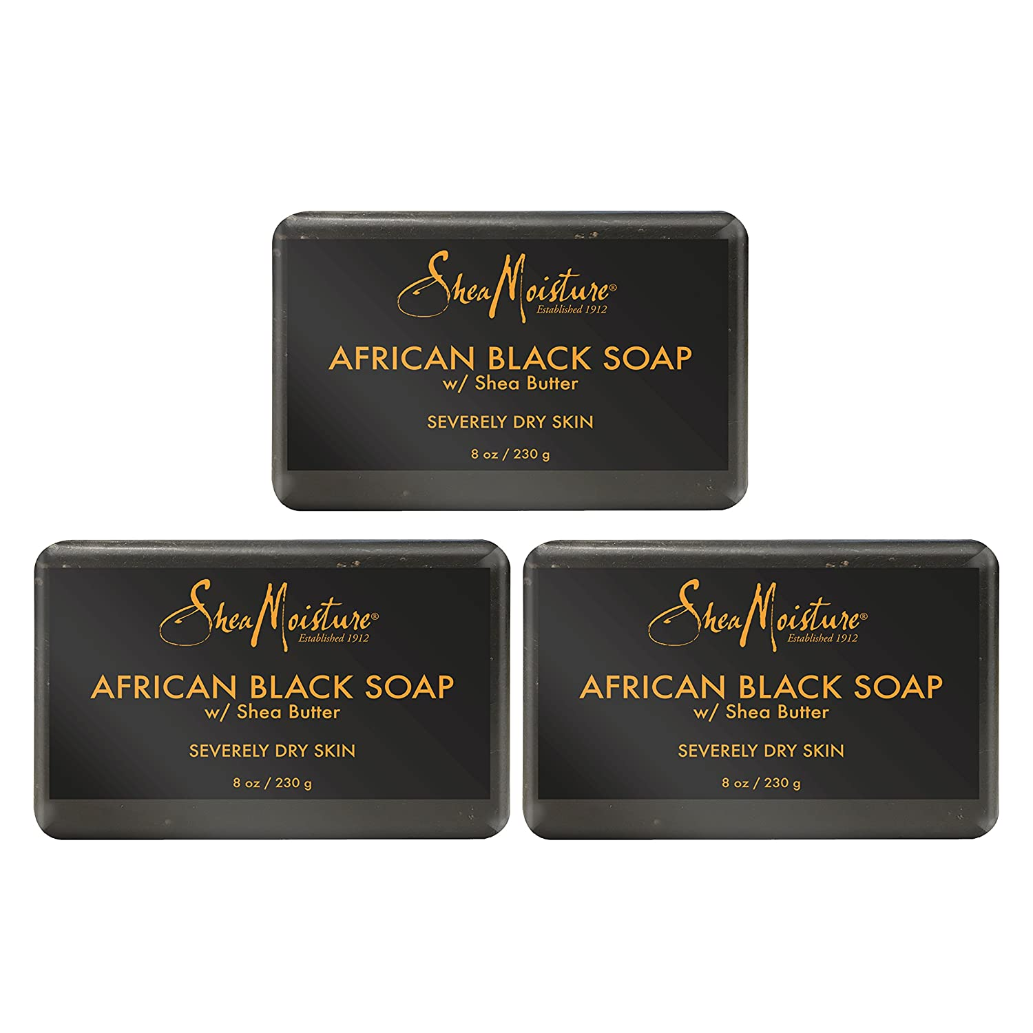 Shea Moisture African Black Soap with Burro di Karitè 230 G GT WORLD OF BEAUTY GmbH U-BB-2692