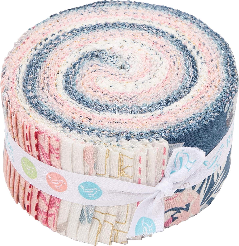 Melissa Mora Blooms /& Bobbins Rolie Polie 40 2.5-inch Strips Jelly Roll Riley Blake RP-8500-40