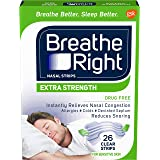 Breathe Right Extra Strength Clear Drug-Free Nasal Strips for Congestion Relief