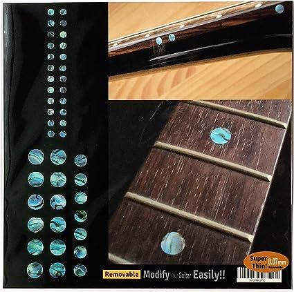 cr/ème Fret Markers Biohazard Sticker Inlays Guitar /& Bass Stickers Guitare