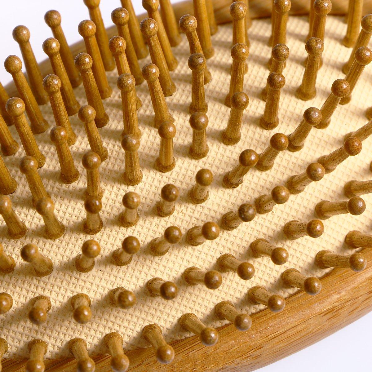 ROSENICE Cepillo de pelo natural de bambú peine cepillo de cuero cabelludo  masaje para el cuidado del cabello  Amazon.es  Salud y cuidado personal 13ba3dde0899
