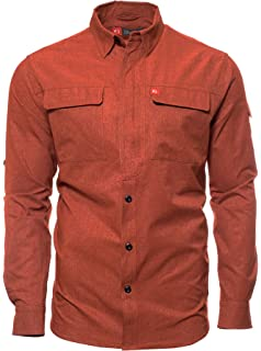 1afb5e10 American Outdoorsman Long-Sleeve Green River Quick Dry Breathable Fishing  Guide Shirt