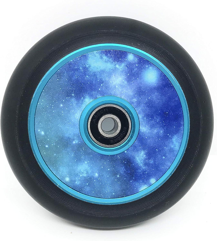 Team Dogz Esc/úter Hueco Core UFO Morado O Azul Core con Negro Poliuretano Individual Ruedas o un par 110mm LLANTA DE ALEACI/ÓN//Ruedas Galaxia Rojo