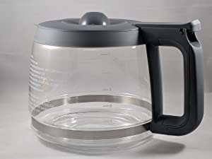 Compatible with Kenmore 100.76772410 Coffee Maker Carafe (OEM) (Gray Color Handle & Lid)