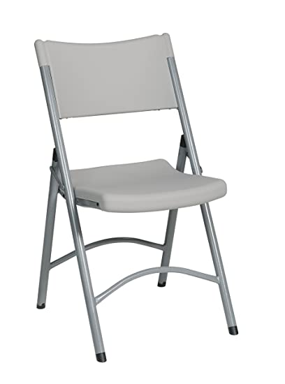 Merveilleux Office Star Resin Multi Purpose Sqaured Folding Chair With Silver Accents,  Set Of 4
