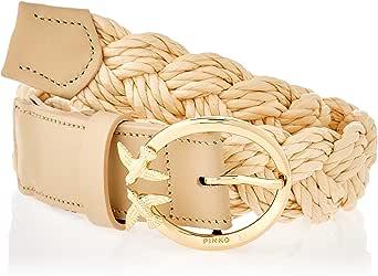 Pinko Aster Simply Belt Vit.Seta BRU Cinturn para Mujer