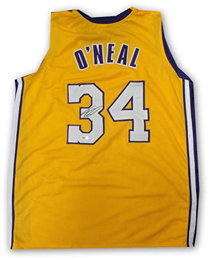 big sale f6a04 0cd01 Shaq Shaquille O'Neal Hand Signed Autographed Full Size ...