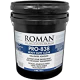 ROMAN Products 011305 PRO-838 Heavy Duty Wallpaper Adhesive, 5 Gal, 1,400 Sq. Ft, Clear