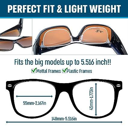 Amazon.com: Colocar Sobre anteojos de sol con lentes ...