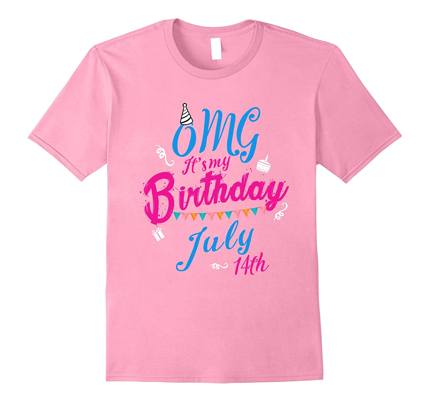 OMG Its My Birthday Legend Queen Born On 14th July T Shirt-PL