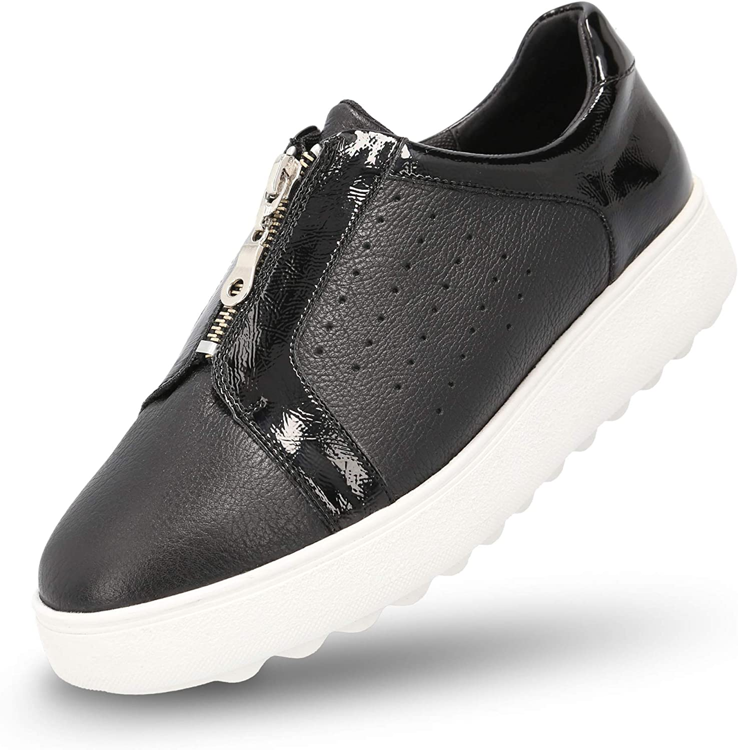 MANET Slip On Leather Sneakers