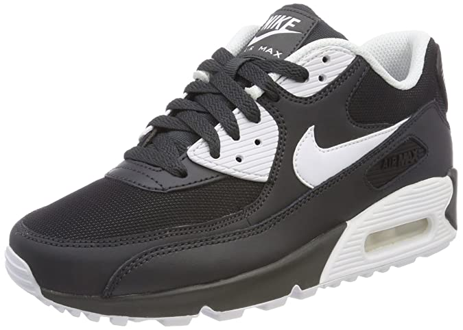 Nike Air Max 90 Essential Anthracite White Black 537384 089 Men's Sport Running Shoes Trainers