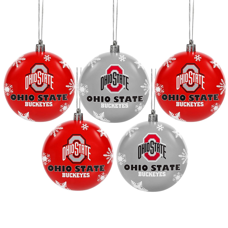Amazon.com : Ohio State 2016 5 Pack Shatterproof Ball Ornament Set ...