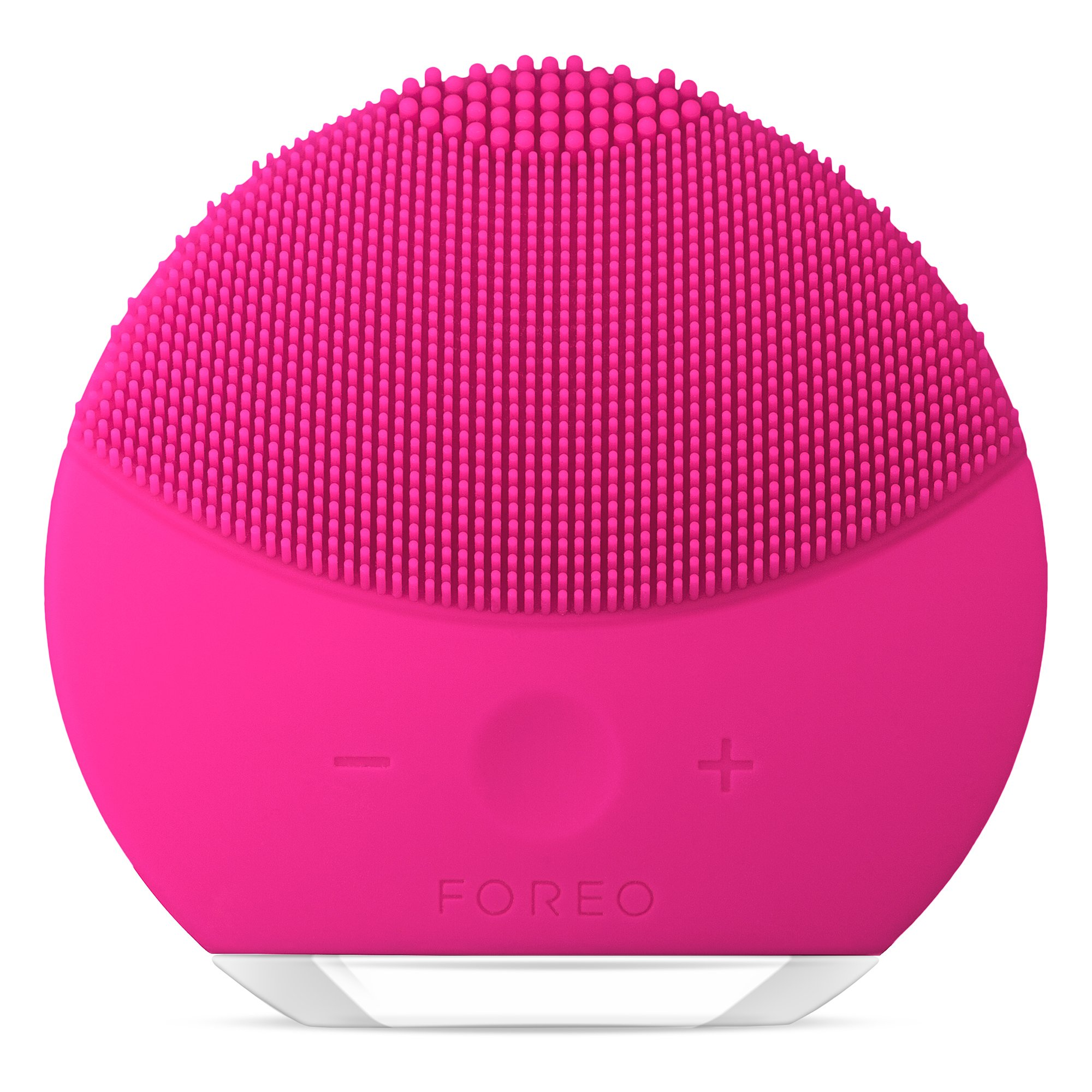 FOREO LUNA mini 2 Facial Cleansing Brush, Gentle Exfoliation and Sonic Cleansing for All Skin Types, Fuchsia by FOREO