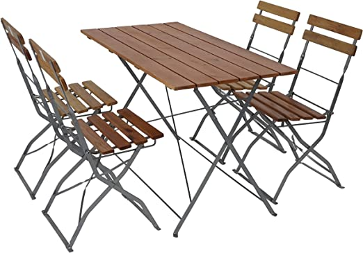 Mendler Salon de Jardin/Brasserie 1 Table 4 chaises Berlin ...