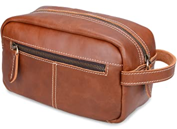 19520268f7a0 Amazon.com   ALTOSY Mens Leather Toiletry Bag Travel Shaving Dopp kits  Organizer Case (YD8102