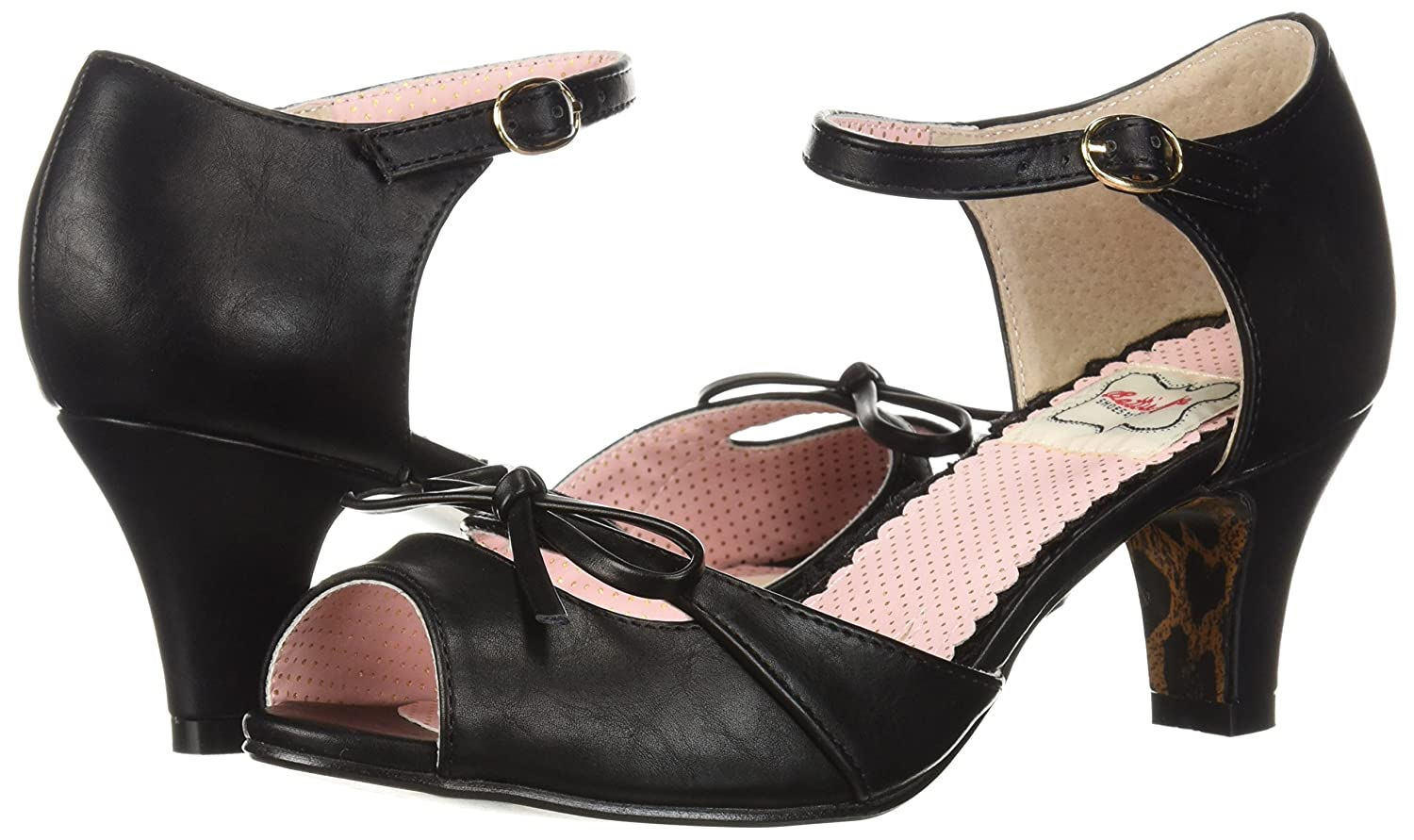 Vintage Style Shoes, Vintage Inspired Shoes Bettie Page Womens Bp250-tegan Heeled Sandal $68.60 AT vintagedancer.com