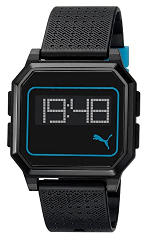 Puma PU910951011 - Reloj digital de cuarzo unisex, correa de silicona color negro: Amazon.es: Relojes