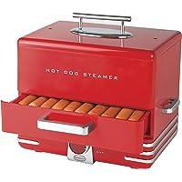 Nostalgia Diner Style Hot Dog Steamer (Red)