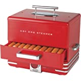Nostalgia Extra Large Diner-Style Steamer 24 Hot Dogs and 12 Bun Capacity, Perfect For Breakfast Sausages, Brats…