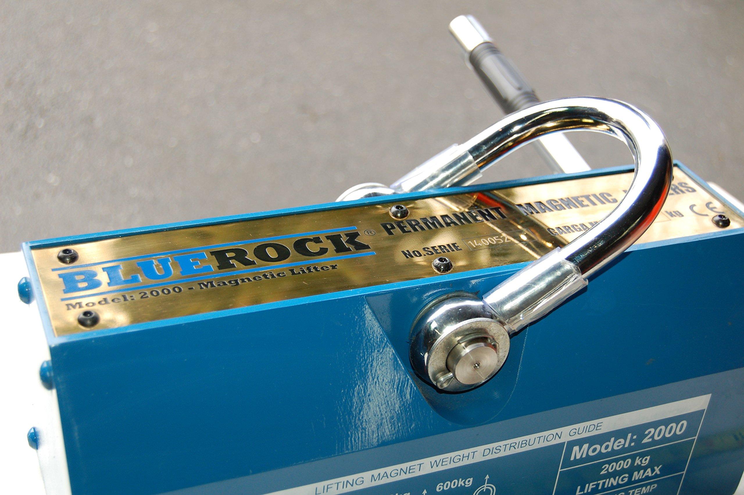 Magnetic Lifter 2000KG / 4400 LBS Magnet Lifting Mag Crain Hoist BLUEROCK Tools