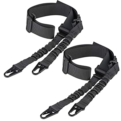 5acae96ad11 CVLIFE Two Points Sling with Length Adjuster Traditional Sling with Metal  Hook for Outdoors Black 2