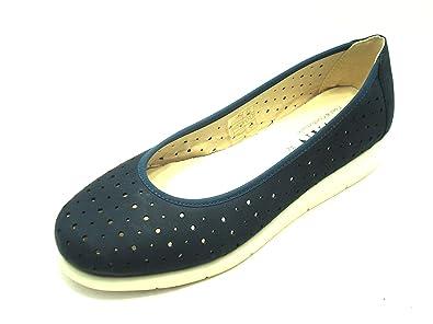 DIVAN - Mocasines de Ante para Mujer Azul Turquesa Azul Size: 36 EU