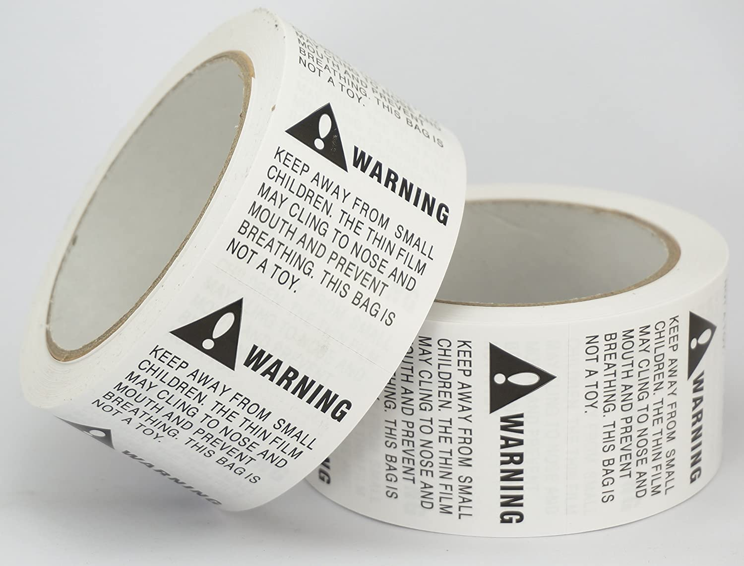 10 Rolls//5000 Labels,Suffocation Warning,Keep Away from Small Children,2 X 2 Removable Label Stickers
