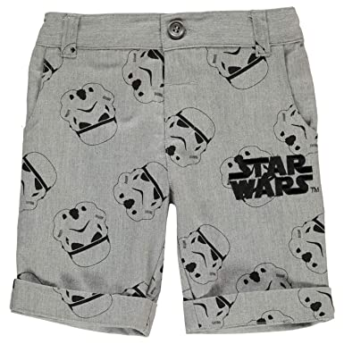 14fb9e51c7 Star Wars Chino Shorts Infant Junior Boys Pants Bottoms Short Trousers:  Amazon.co.uk: Clothing