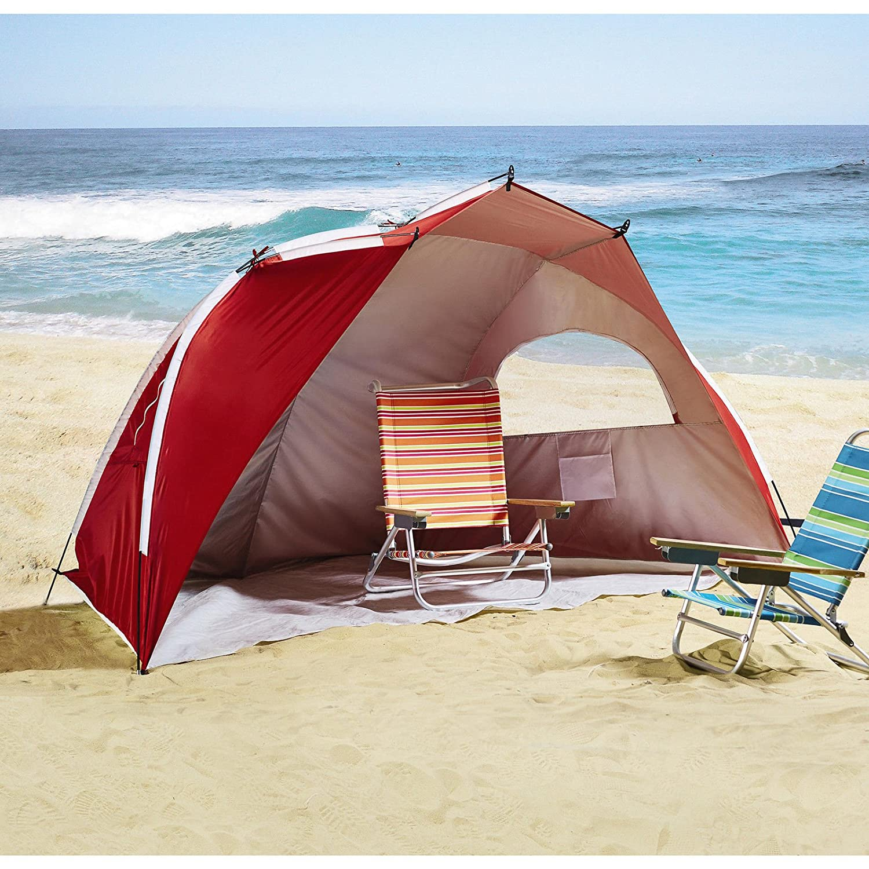 Amazon.com Jumbo Portable Sun Shelter beach Tent Cabana SPF 50 w/ carry bag Sports u0026 Outdoors & Amazon.com: Jumbo Portable Sun Shelter beach Tent Cabana SPF 50 w ...