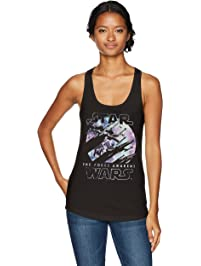 STAR WARS Womens Episode VII Galactic Poster Ideal Racerback Graphic Tank Top T-Shirt